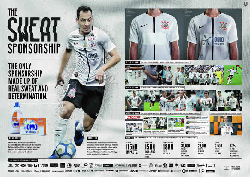 Omo Sports aparece en la camiseta del Corinthians con una innovación de  F.biz dafdfe2a8e499